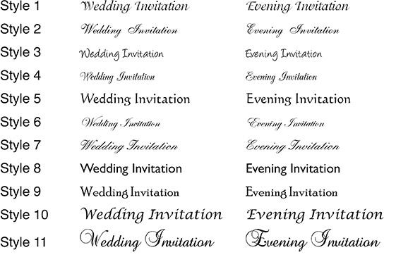 Typeface Styles