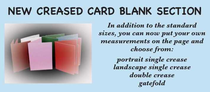 0 - New Creased Card Section
