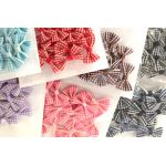 The Hobby House 15mm wide Gingham Bows (Variety of Colours)
