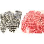 The Hobby House 16mm wide Gingham Bows (Red & Black)