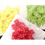 The Hobby House 10mm wide Polka Dot Bows (Variety of Colours)