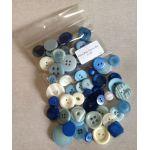 China Blue Button Mix