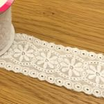 51mm Wide Embroidered Lace - 1.8m Roll