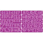 Cheery Lynn Designs Dies - Slightly Script-Basic Alphabet & Numbers
