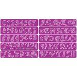 Slightly Script Alphabet & Numbers