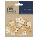Burlap Mini Flowers (32pcs) - Papermania