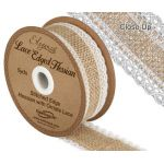 Hessian Lace Edge Ribbon - 36mm