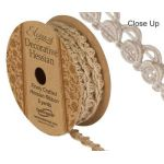 10mm Decorative Natural Hessian Ribbon