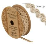 8mm Natural Hessian Ribbon (Pattern 279)