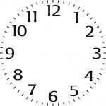 """6"""" Clock Face Stencil"""