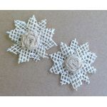 Open Weave Hessian Flowers - Pack of 2