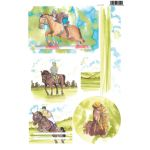 A4 Die Cut Card Toppers - Horse (2076)