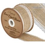 Hessian Lace Edge Ribbon - 50mm