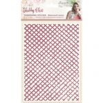 "Distress Lattice 5"" x 7"" Embossing Folder - Shabby Chic - Sara Davies Signature Collection"