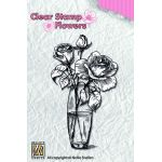 Nellie Snellen Clear Stamp - Flowers Roses