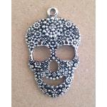 Aged Silver Sugar Skull