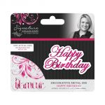 Sara Davies Signature Collection - Glamour - Happy Birthday Metal Die