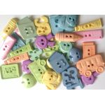 School Days Button Mix Pack - Pastels