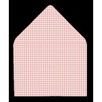Printed Gingham, Plaid and Tartan Envelope LINERS for gummed envelopes