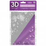 "Rambling Rose - Crafter's Companion 5 x 7"" 3D Embossing Folder"