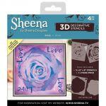 Rose - Sheena Douglass 3D Decorative Stencil