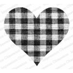 Impression Obsession Stamp - Gingham Heart