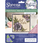 Sheena Douglass Perfect Partner In Full Bloom - A5 Rubber Stamp - Adorable Anemone