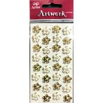 White & Gold Mini Flowers - Artwork 3D Toppers