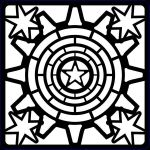 Steampunk Stars - Creative Expressions 17 x 17cm Stencil