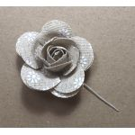 Vintage Look Fabric Rose - Printed