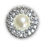 Pearl Double Row Diamante Embellishment