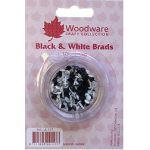 Mini Round Brads - Black & White