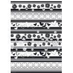 Black & White - A4 Decorative Paper (1)