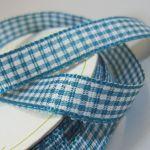 10mm Gingham Ribbon (5 metre ROLL)