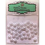 Flat Backed Pearl Medallion - White 8mm
