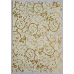 Artoz A4 Cream & Gold Paper - Leaves & Tendrils