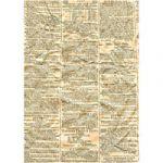Crumpled Newsprint Printed Paper