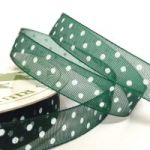 10mm Organza Polka Dot Ribbon (7 metre ROLL)