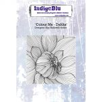 Colour Me - Dahlia - IndigoBlu Mounted Stamp