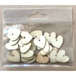 Small Wooden Hearts