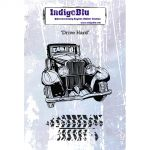 Indigoblu Drive Hard - A6 Mounted Red Rubber Stamp by Kay Halliwell-Sutton