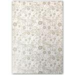 Artoz A4 White & Silver Paper - Floral