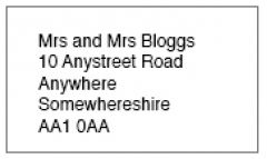 Bespoke Address Labels