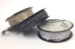 10mm Script Printed Satin Ribbon (8 metre ROLL)