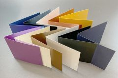 FREE 11 new pearlescent creased cards (Spend over £5)