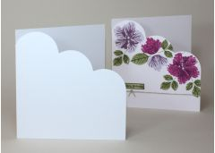 Quality White Arco 300gsm Cloud Corner Card Blanks