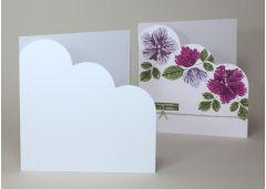 Quality White Arco 224gsm Cloud Corner Card Blanks
