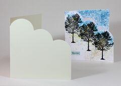Conqueror Wove 300gsm Whites Cloud Corner Card Blanks