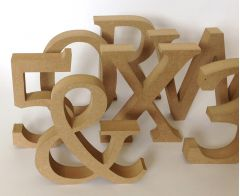 3D MDF Letters & Numbers - 130mm Tall