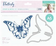 Botanical Butterfly Stamp & Cutting Die Set
